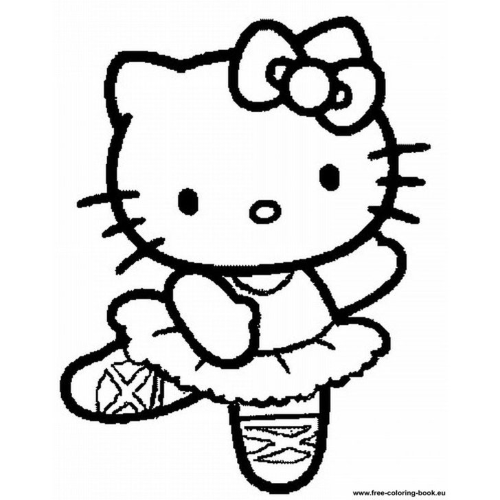 728x728 Hello Kitty Dancing Coloring Pages Pumpkin Stencils