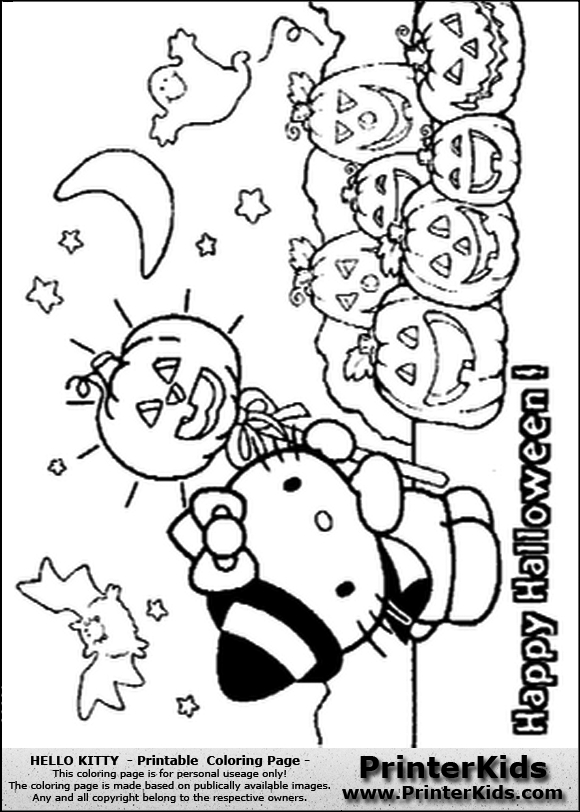580x812 Hello Kitty Halloween Coloring Pages Hello Kitty Halloween