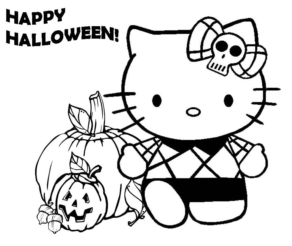 982x828 Hello Kitty Halloween Coloring Witch Halloween Coloring Pages