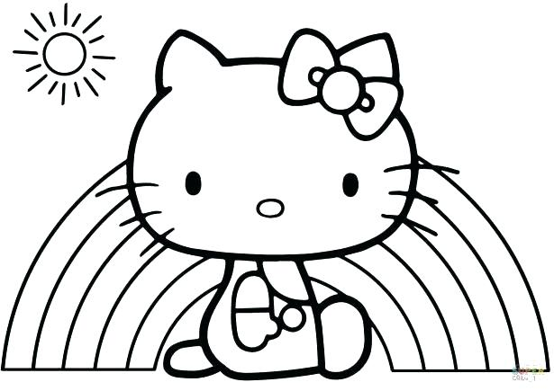 615x435 Hello Kitty To Color Coloring Pages Film Coloring Pages Hello