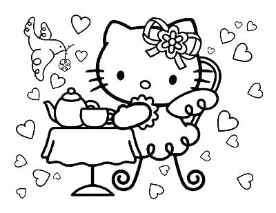 400x309 Hellow Kitty Coloring Pages Hello Kitty Coloring Sheets Halloween