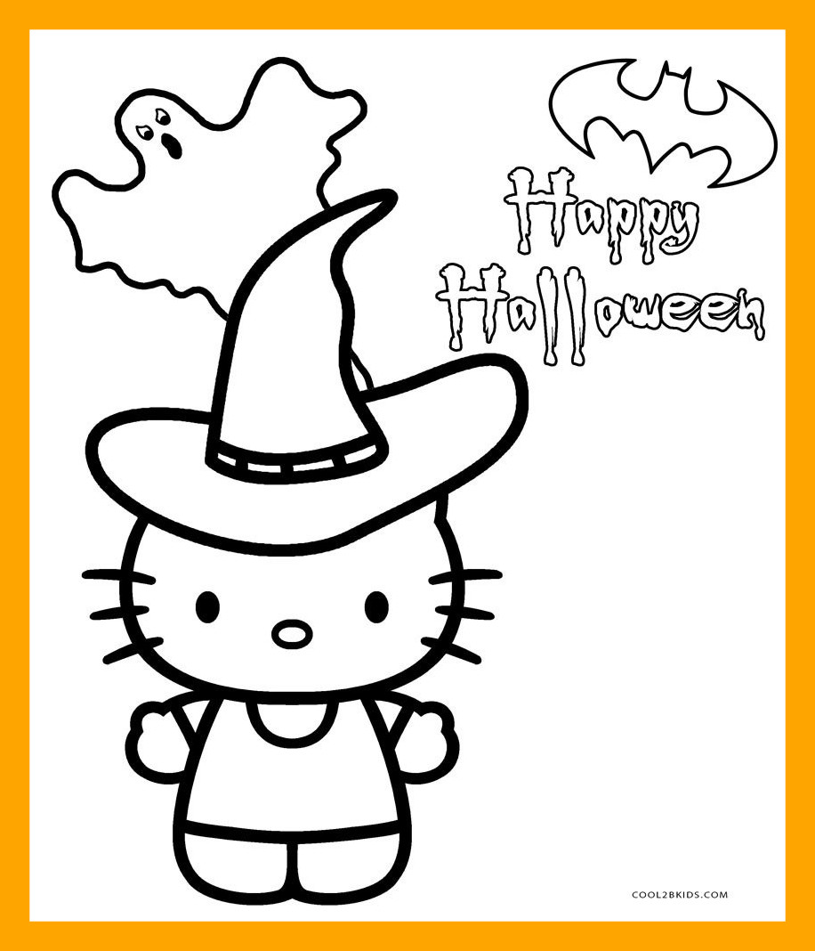 916x1068 Inspiring Hello Kitty Halloween Coloring Pages Print Skeleton Pic