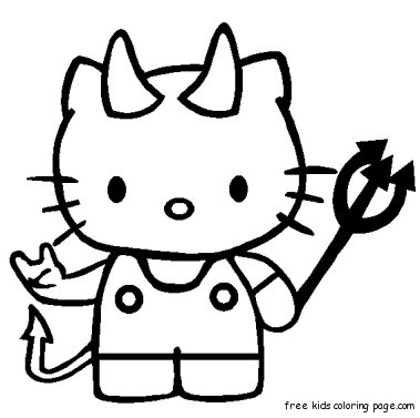 379x377 Print Out Hello Kitty Halloween Coloring Bookfree Printable