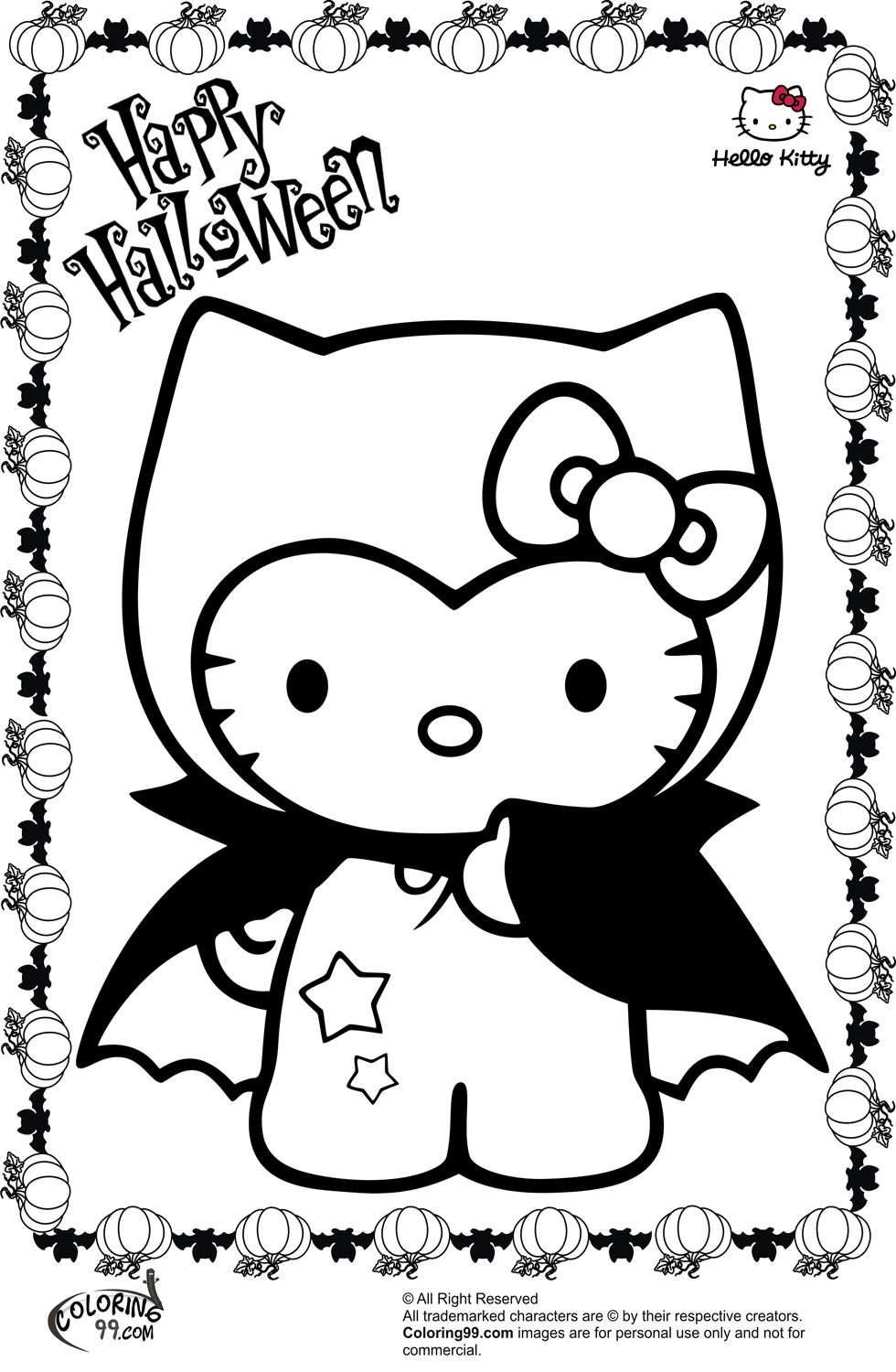980x1500 These Spooky Free Halloween Coloring Pages Feature A Variety