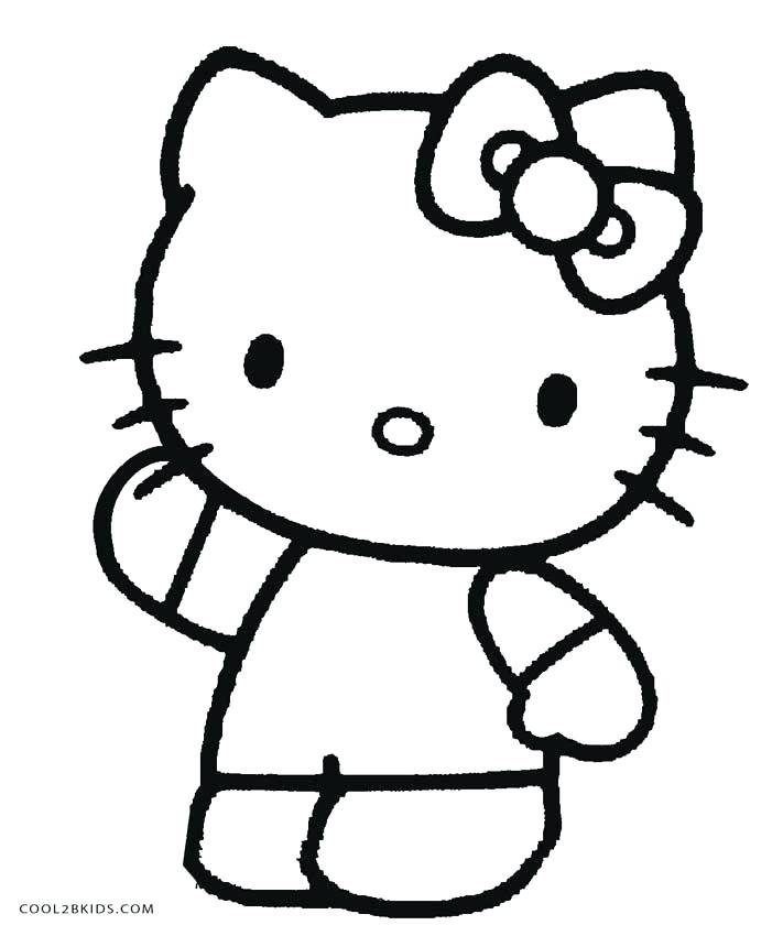 711x850 Free Printable Hello Kitty Coloring Pages For Pages Free Hello