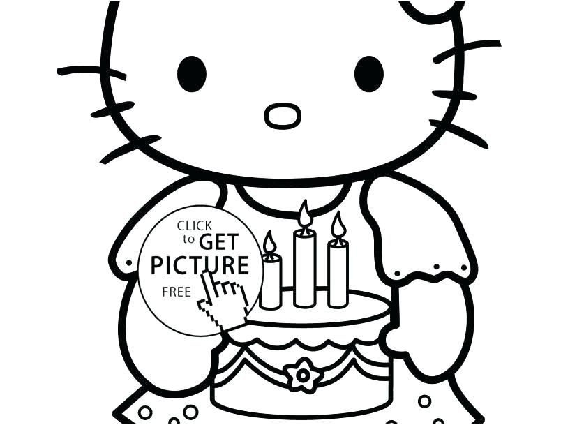 827x609 Hello Kitty Birthday Coloring Pages Ing Ing Ing Free Hello Kitty