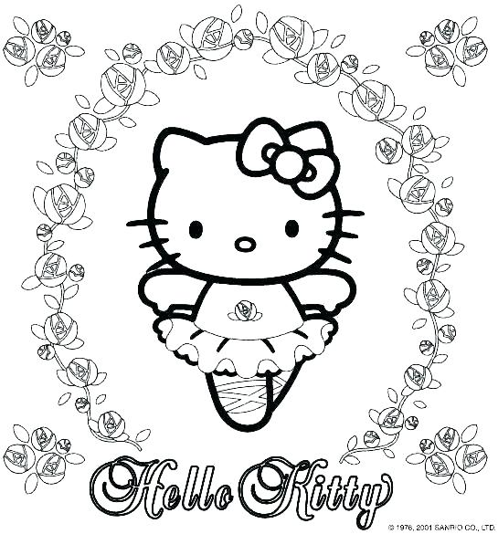 545x585 Hello Kitty Images To Color Kitty Color Pages Hello Kitty Birthday