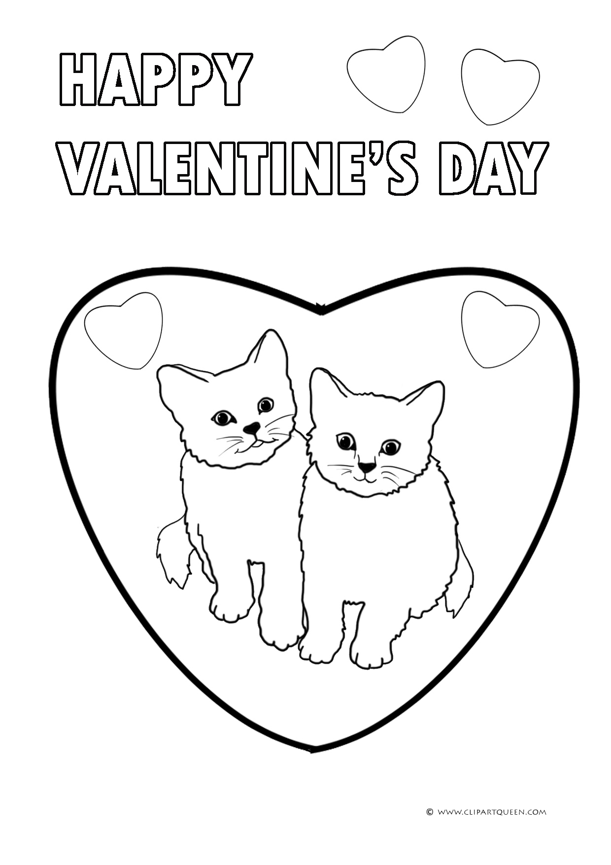 Hello Kitty Heart Coloring Pages