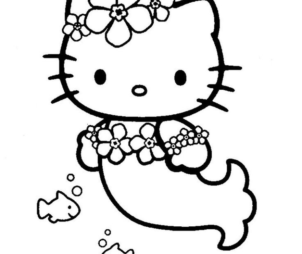 Hello Kitty Mermaid Coloring Pages View Hello Kitty Mermaid ... | 864x1024