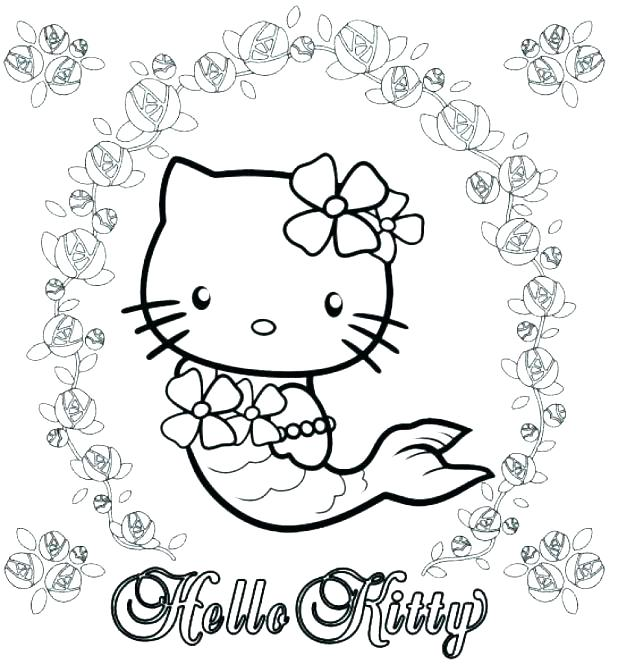 618x664 Coloring Pages Hello Kitty Mermaid Kitty Color Pages Hello Kitty