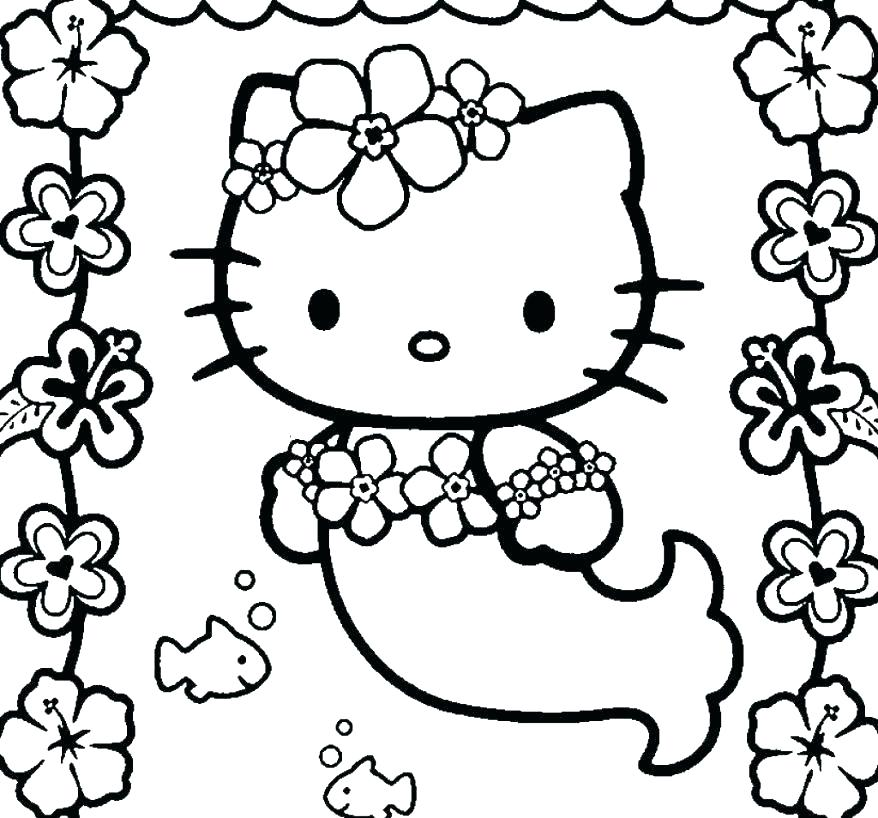 878x818 Hello Kitty Coloring Pages That You Can Print Top Hello Kitty