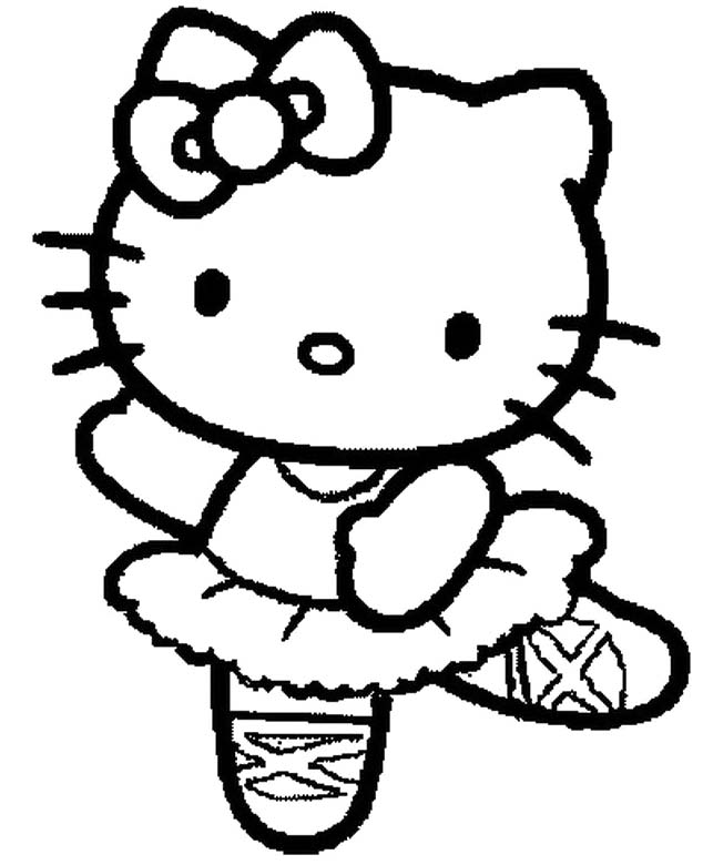 634x780 Hello Kitty Is A Jig Coloring Page Coloring Pages Kids Coloring