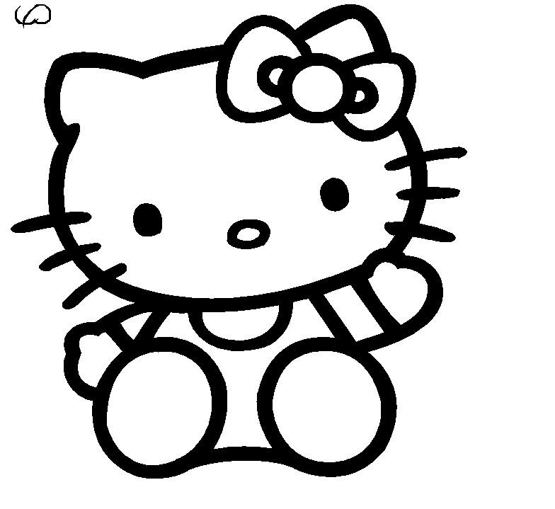 784x719 Hello Kitty Nerd Coloring Pages