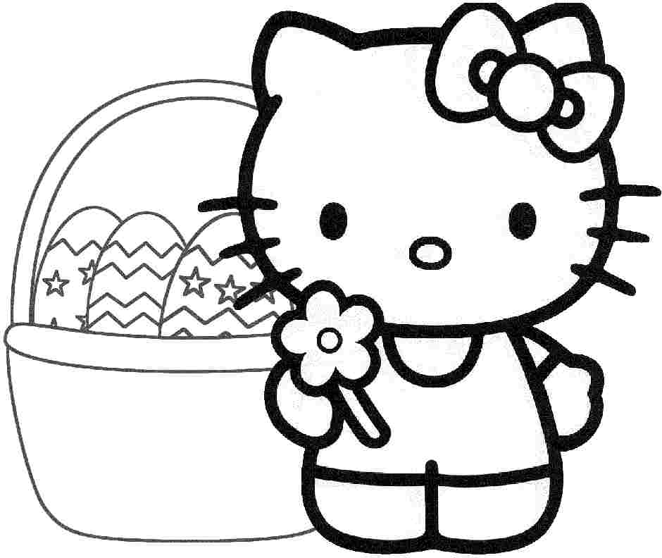940x792 Printable Hello Kitty Easter Coloring Pages