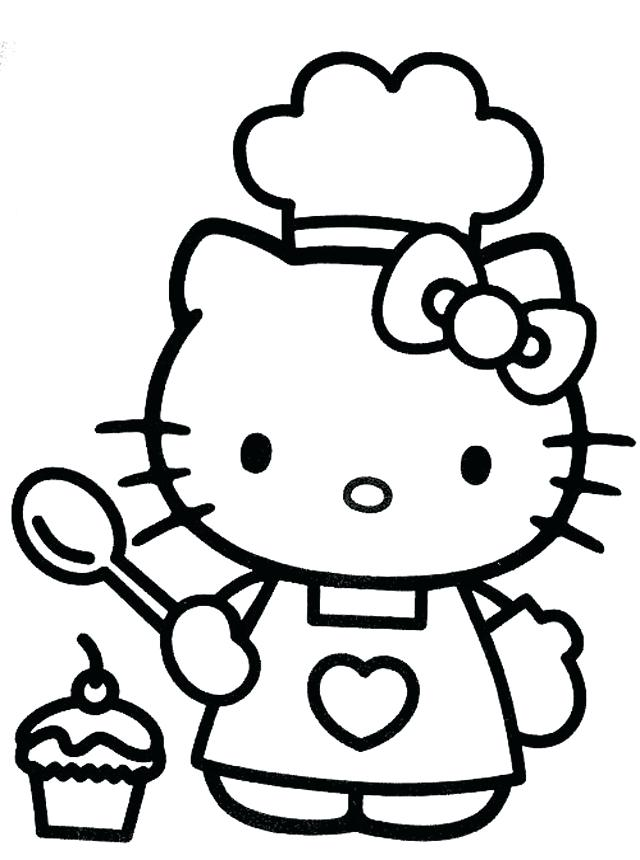 640x860 This Is Hello Kitty Coloring Pages Printable Images