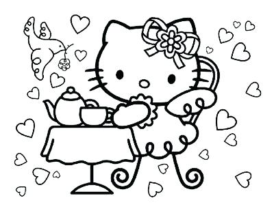 400x309 Halloween Hello Kitty Coloring Sheets Gangster Hello Kitty