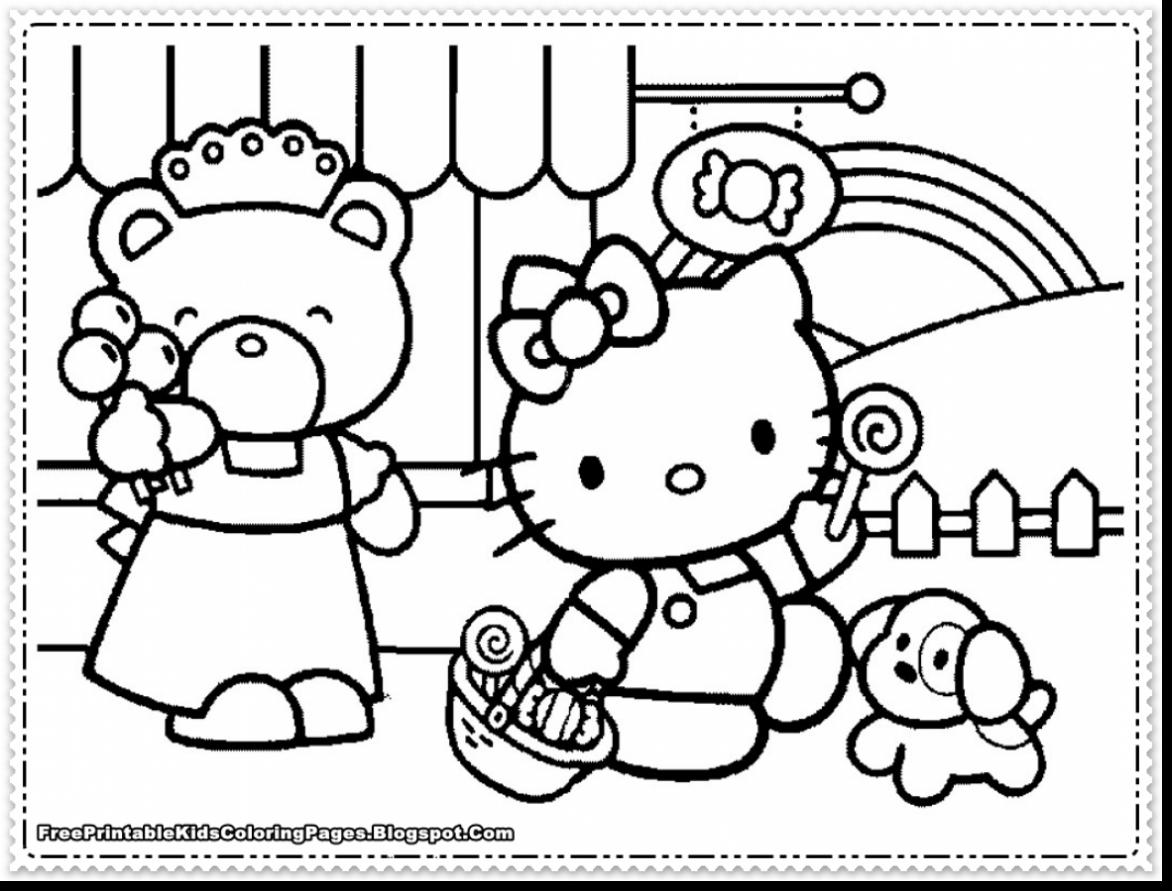 This is a photo of Hello Kitty Coloring Pages Free Printable intended for unicorn