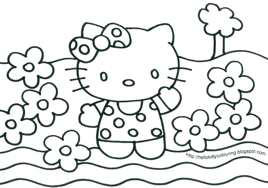 936x656 Princess Hello Kitty Coloring Pages Cartoon Coloring Pages