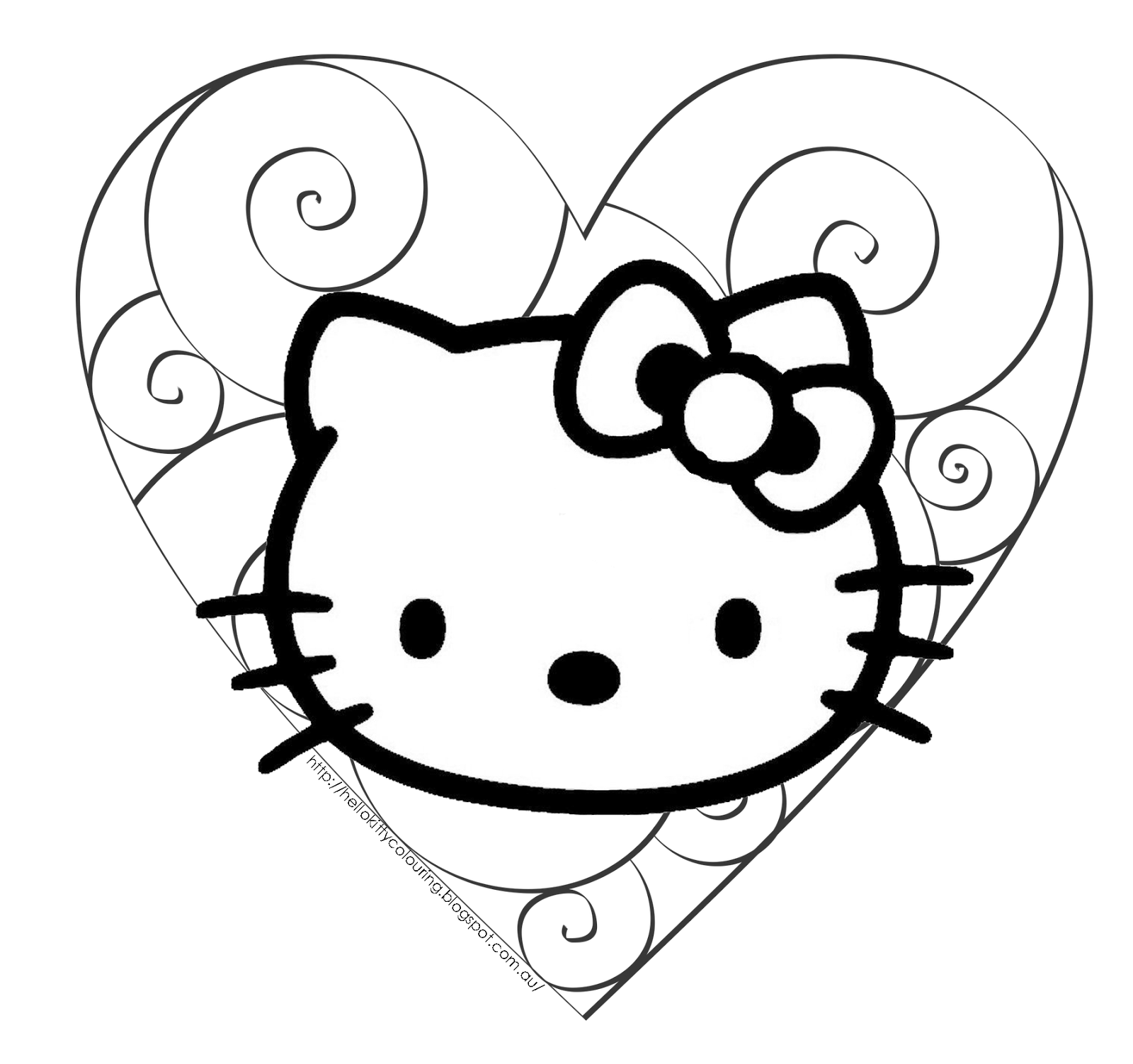 1600x1503 Stunning Hello Kitty Valentine Coloring Page For Hello Kitty