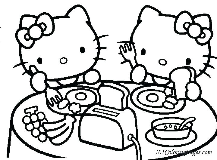 720x532 Hello Kitty Mermaid Coloring Pages