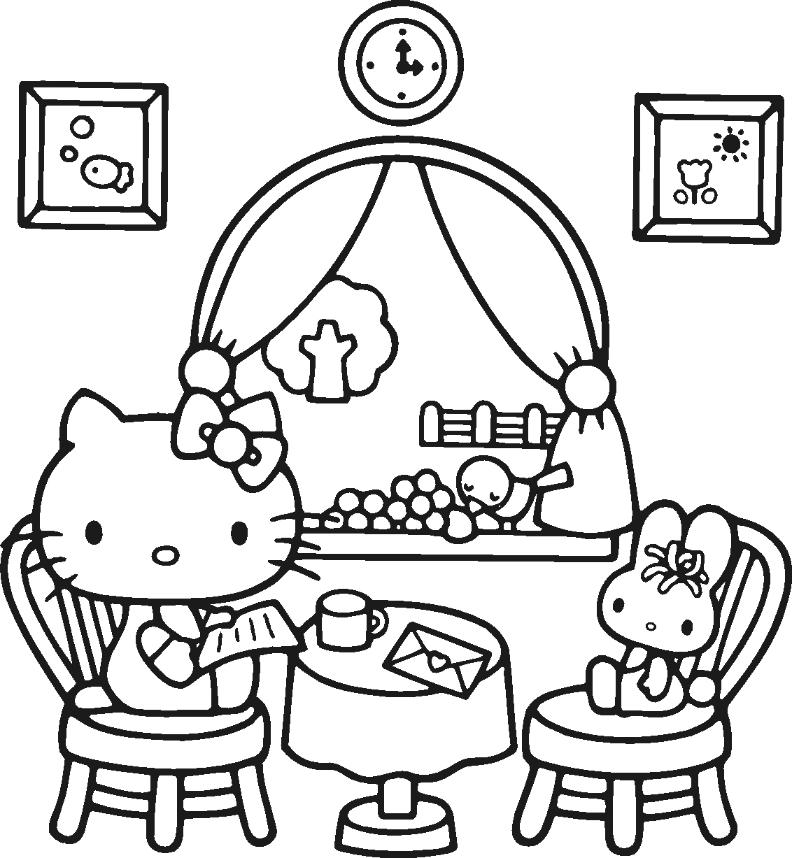 1132x1227 Coloring Pages Of Hello Kitty Elegant Hello Kitty Coloring Pages