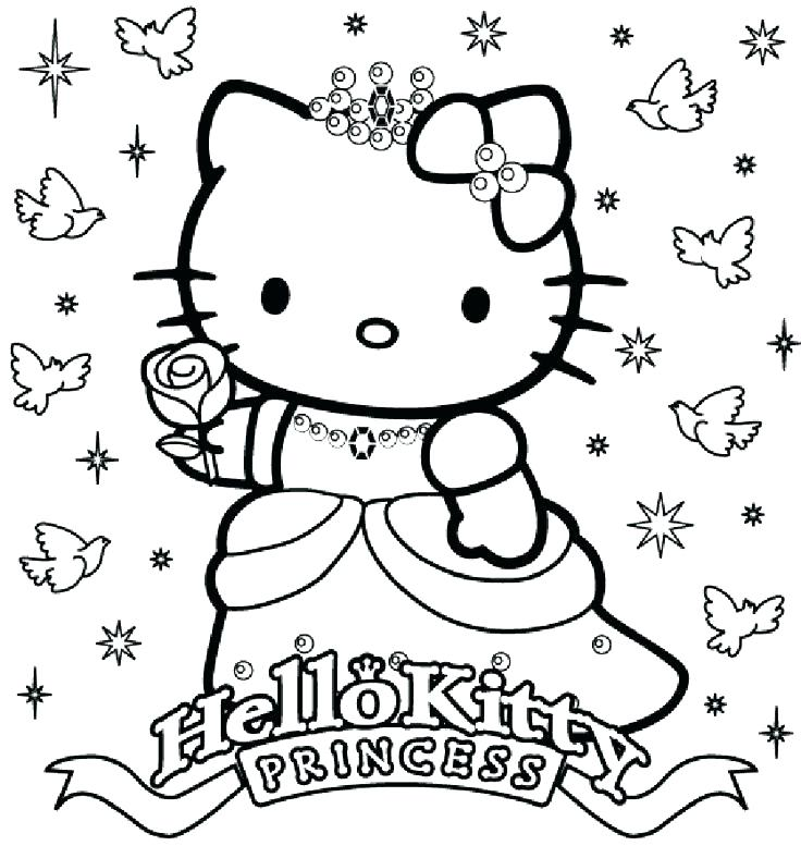736x788 Cute Kitty Coloring Pages Hello Printable Ballerina Best Hello