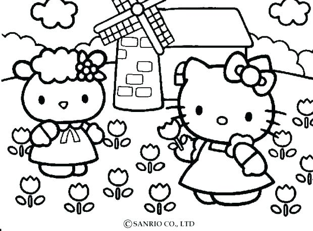 620x458 Hello Kitty Beach Coloring Pages Of Summer Page Free On The Large