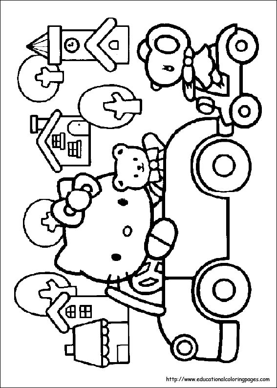 567x794 Hello Kitty Coloring Pages Free For Kids