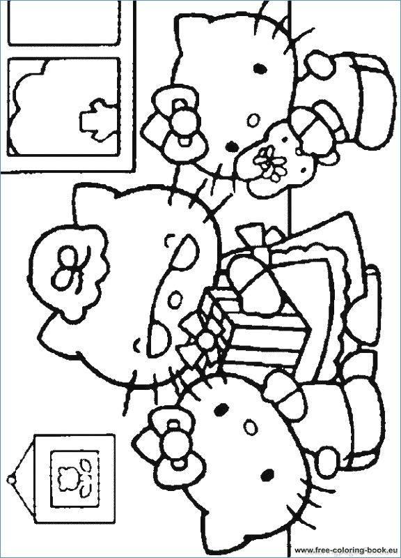 576x800 Hello Kitty Friends And Family Coloring Pages