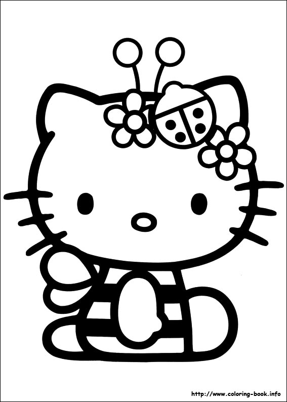 Hello Kitty Summer Coloring Pages At Getdrawings Free Download