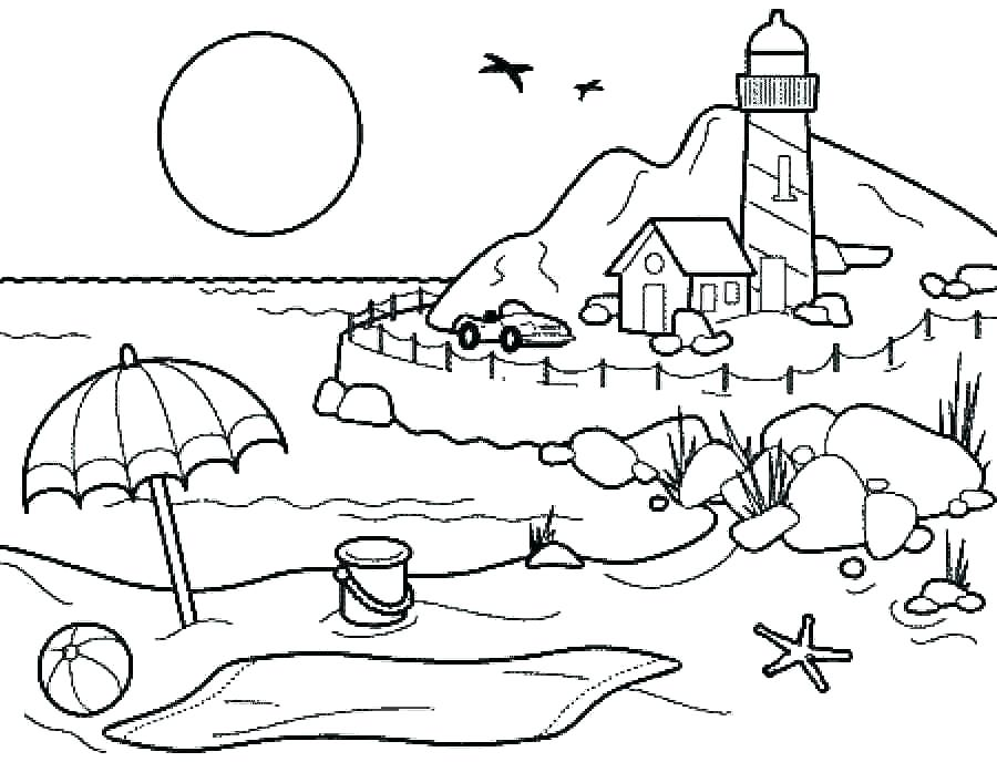 900x688 Summer Coloring Pages Vacation Coloring Pages Summer Coloring