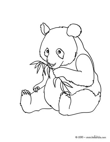 364x470 Giant Panda Coloring Pages Hellokids Com Colouring For Kids