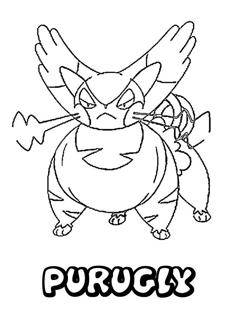 749x1060 Purugly Pokemon Coloring Page More Pokemon Coloring Pages
