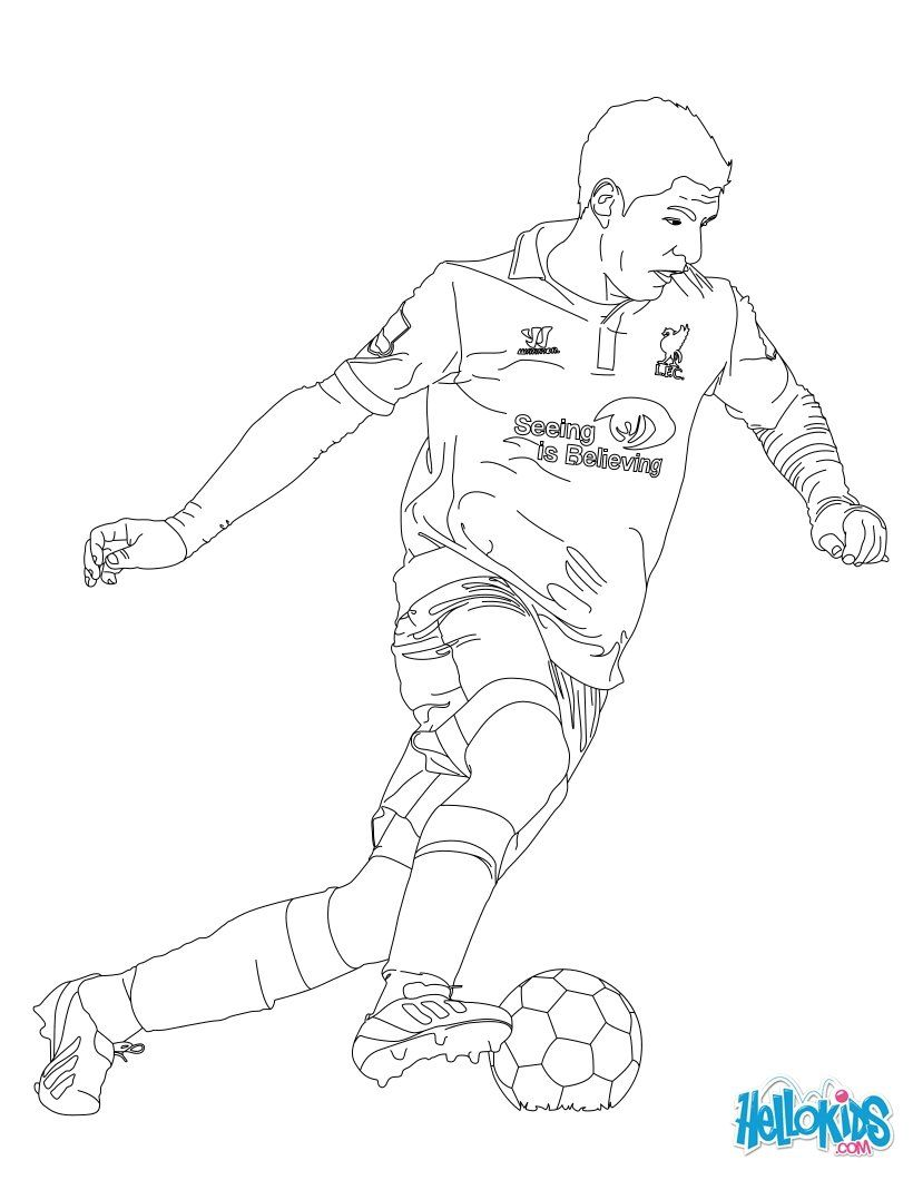 820x1060 Suarez Soccer Player Coloring Page, More Soccer Player And Sports