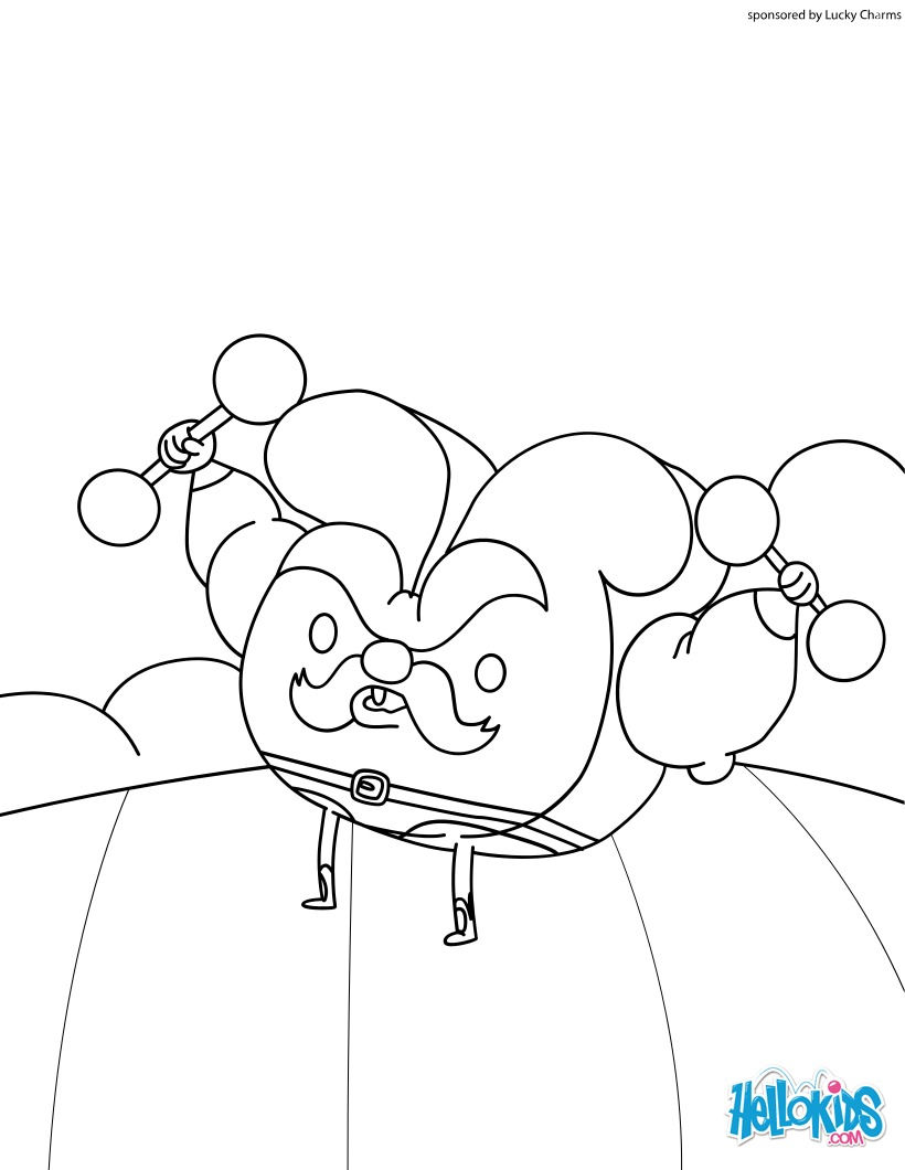 820x1060 Tom Horseshoe Lucky Charms Coloring Pages Hellokids Com Throughout