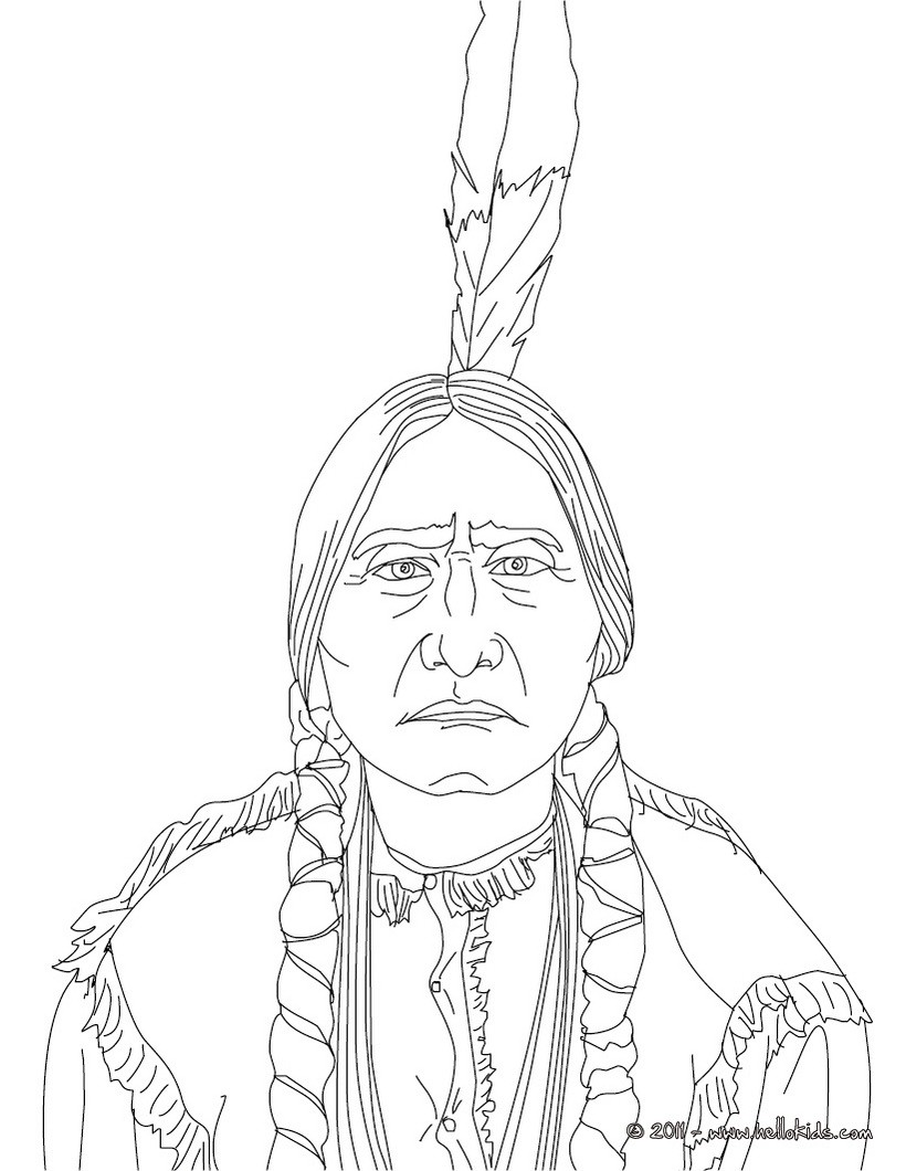 820x1060 Unsurpassed Native American Color Pages Sitting Bull Coloring
