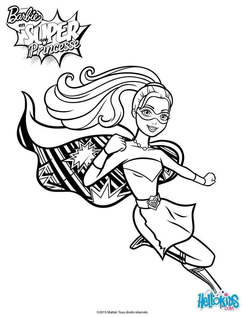 820x1060 Barbie Super Power Saves The Day Coloring Page More Barbie Super