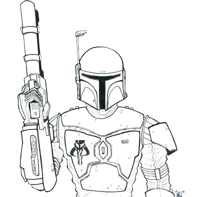 400x394 Coloring Page Boba Fett Coloring Pages Printable Coloring Page