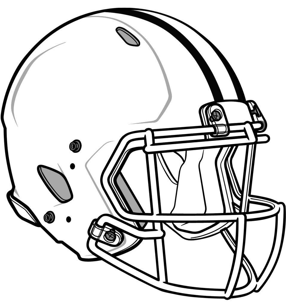 957x1023 Football Helmet Coloring Page