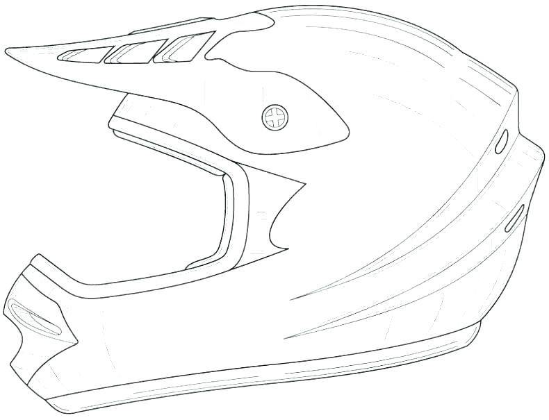 790x605 Motorcycle Helmet Coloring Pages Professional