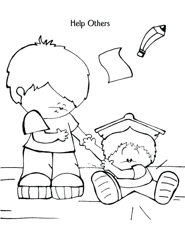 720x931 Helping Others Coloring Pages The Lords Prayer For Kids Helping