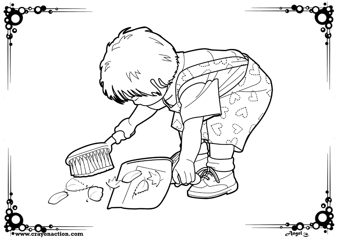 Helping Hands Coloring Page