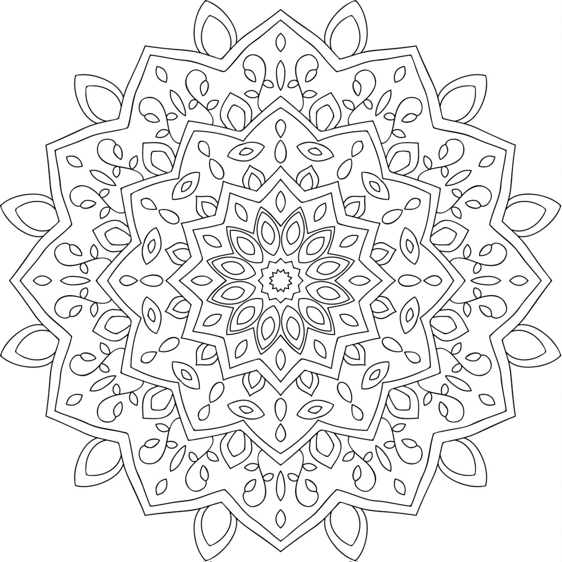 1100x1100 Helping Hands Coloring Page Picturesque Pages
