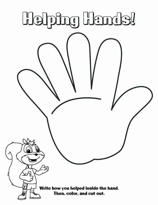556x720 Helping Hands Coloring Pages