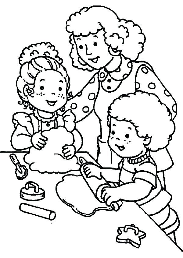 600x847 Helping Others Coloring Pages Helping Others Making Cookies