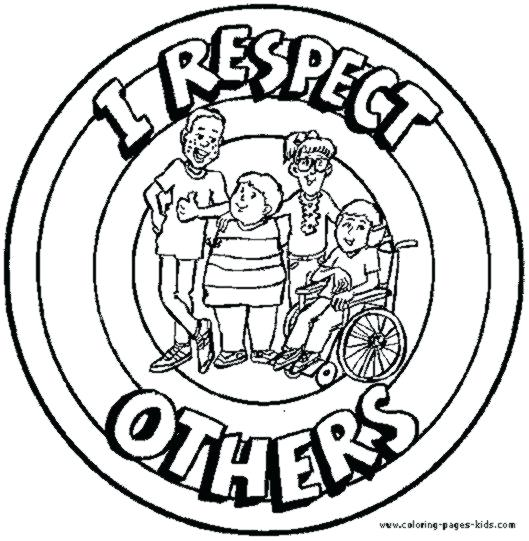 529x541 Helping Others Coloring Pages Respect Others Coloring Pages
