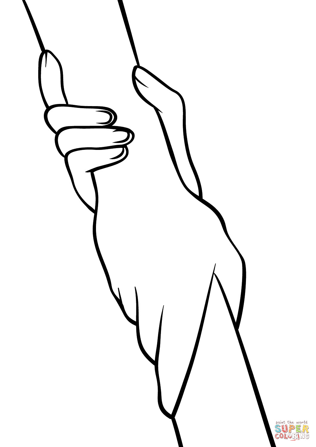 1060x1500 Helping Hands Coloring Page Free Printable Pages Remarkable Hand