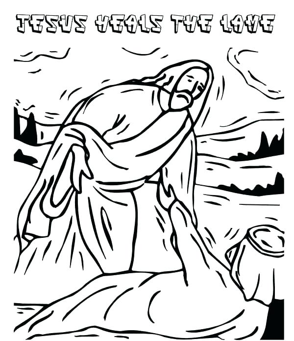 600x694 Helping Others Coloring Pages Heals The Lame Man Coloring Page