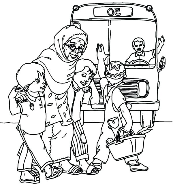 600x646 Helping Others Coloring Pages Helping Others Cross The Street
