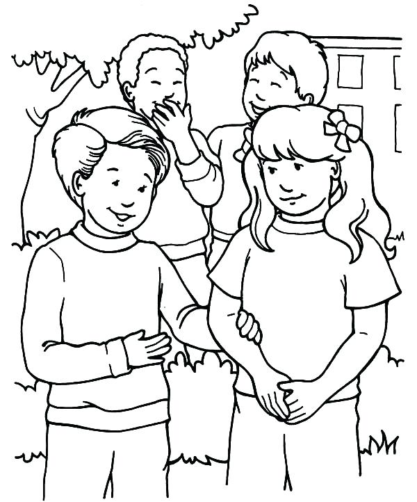 600x722 Helping Others Coloring Pages Helping Others With Friends Coloring